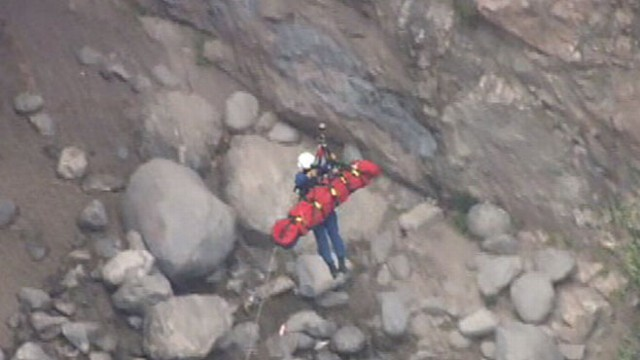 VIDEO: 25-year-old woman lost her footing and went into a freefall down a waterfall.
