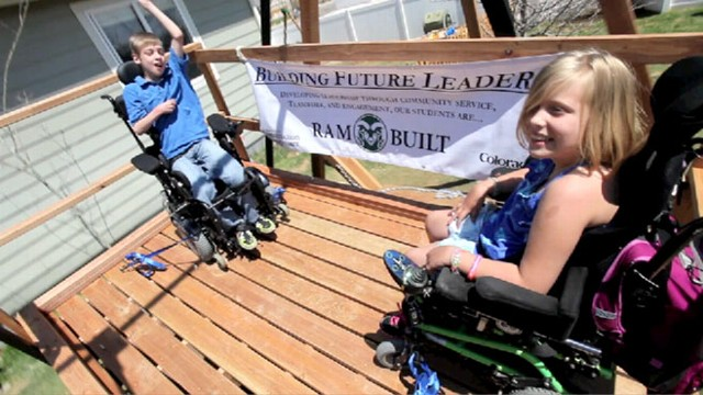 VIDEO: Wheelchair Swing Built for Twins with Cerebral Palsy