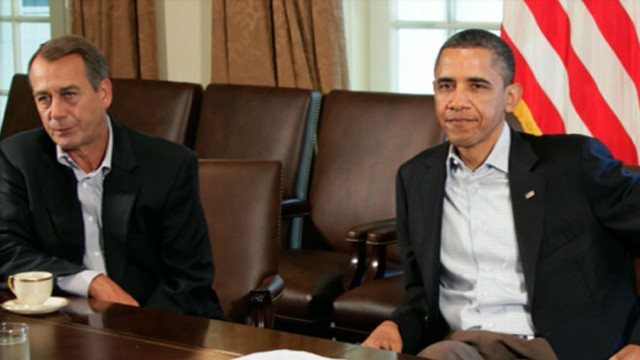 VIDEO: President Obama and Speaker John Boehner are leading negotiations to curtail drastic budget cuts.