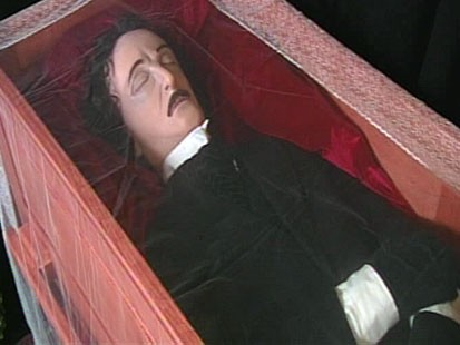 VIDEO; Fans recreate funeral honoring the master of macabre who died 160 years ago.