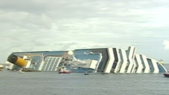 VIDEO: It could take most of the year to clear the wreckage of the Costa Concordia.