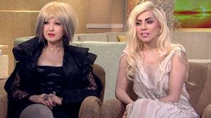 Lady Gaga and Cyndi Lauper on GMA