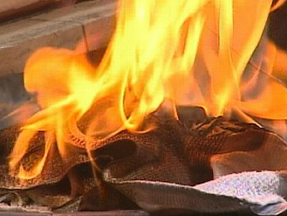 VIDEO: Linseed oil left on rags can get hot enough to cause fires.