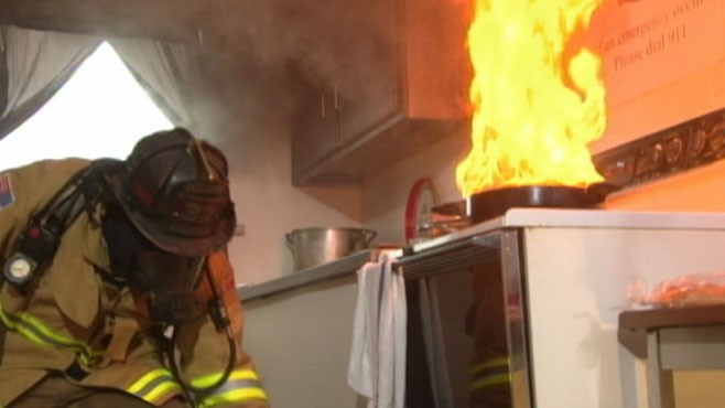 VIDEO: Learn the dos and donts of putting out cooking-related fires.