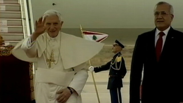 """VIDEO: The leader of the Catholic Church begins a trip being called a """"pilgrimage of peace."""""""