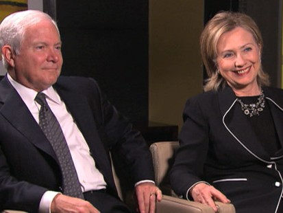 VIDEO: Hillary Clinton and Robert Gates have bonded despite their departments history.