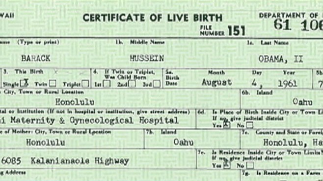 VIDEO: The president releases copies of his original birth certificate.