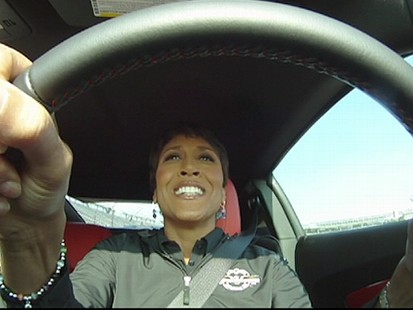 """VIDEO: The """"GMA"""" anchor talks about her experience driving the pace car."""
