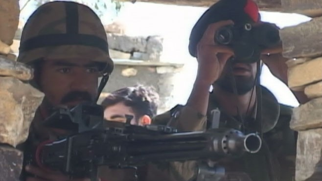 VIDEO: U.S. and Pakistani forces battle Taliban militants in tribal areas.