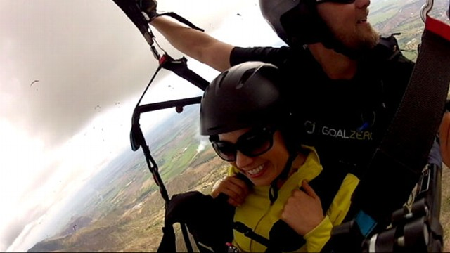 Ginger Zee Goes Paragliding in Colombia Video - ABC News