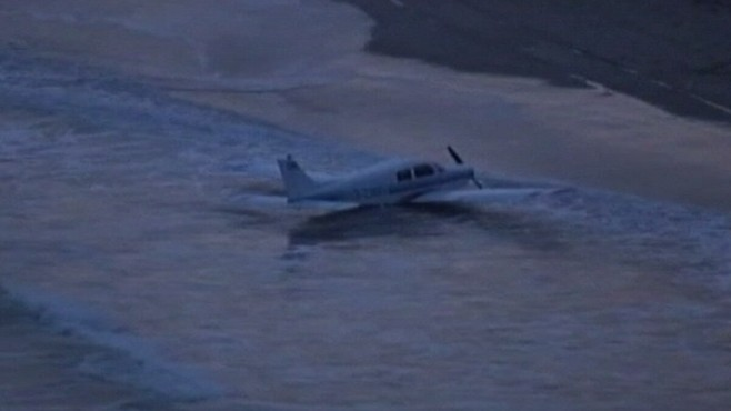 VIDEO: A pilot cracks jokes as he asks for permission to land in shallow water.