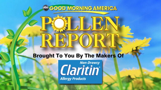VIDEO: Sam Champion explains which allergens are expected to be an issue today.