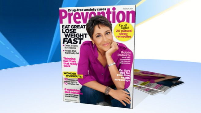 """VIDEO: """"GMAs"""" own Robin Roberts chats about her cover story on cancer in """"Prevention."""""""