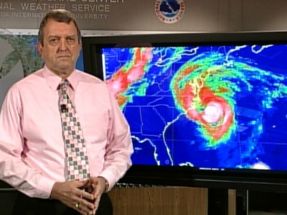 VIDEO: National Hurricane Centers Bill Read tracks the storm centers path.