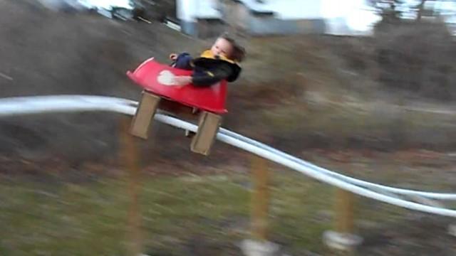 Parents Build Backyard Roller Coaster for Kids Video - ABC ...
