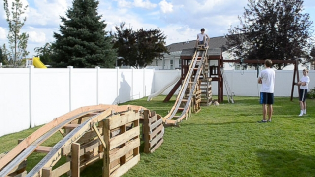 Homemade Rollercoaster Teenage Boys Build Backyard