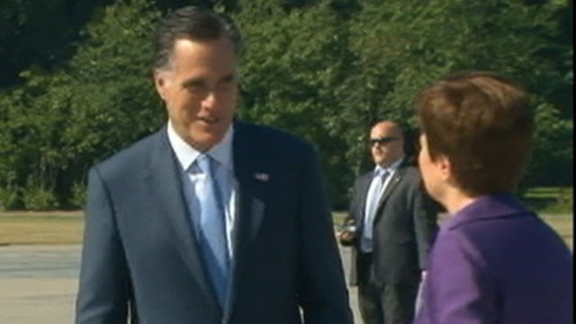 VIDEO: When asked about recent missteps, Mitt Romneys press secretary responded with tough words.