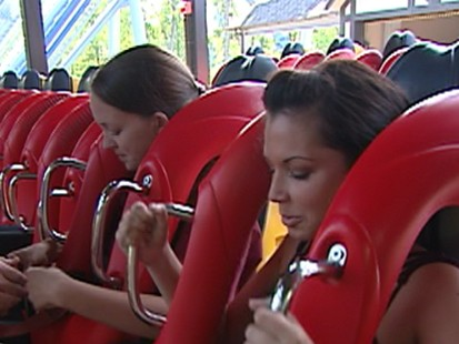 VIDEO: Melissa Rycroft looks at the roller coaster at Floridas Busch Gardens.