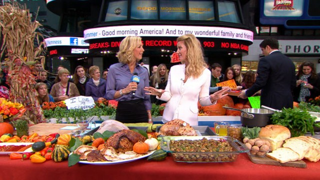 Sandra Lee\'s Thanksgiving Dinner on a Budget Video - ABC News