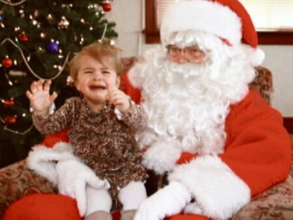 Child Scared of Santa
