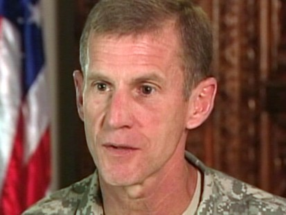 VIDEO: Diane Sawyer talks to General Stanley McChrystal.