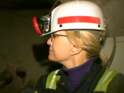 VIDEO: Diane Sawyer talks about the mining industry and working life.