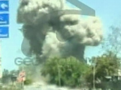 VIDEO: Bombs and gunfire strike northwest Pakistan, police say.