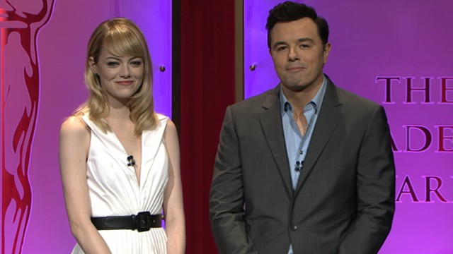 VIDEO: Seth MacFarlane, Emma Stone on 2013 Academy Award Nominations