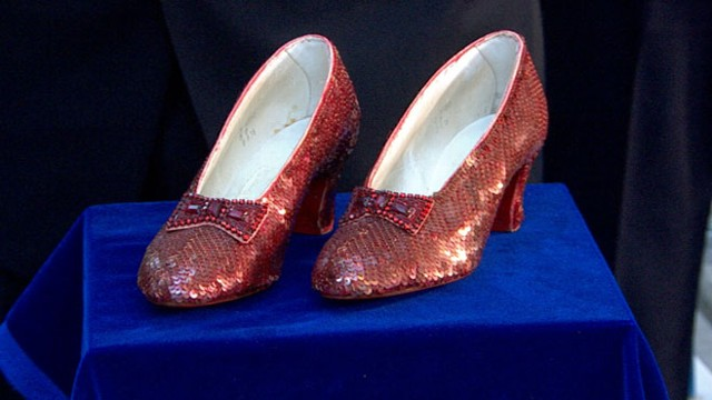 dorothy s ruby red slippers from wizard of oz to be auctioned