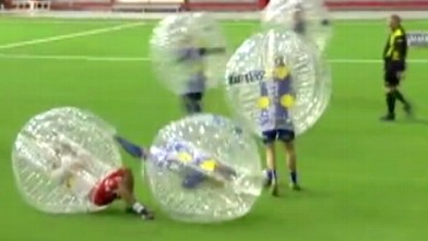 GMA Summer Games' Kicks Off With Bubble Soccer Match Video