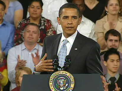 VIDEO: President Obama gets ready to sign the stimulus bill into law.