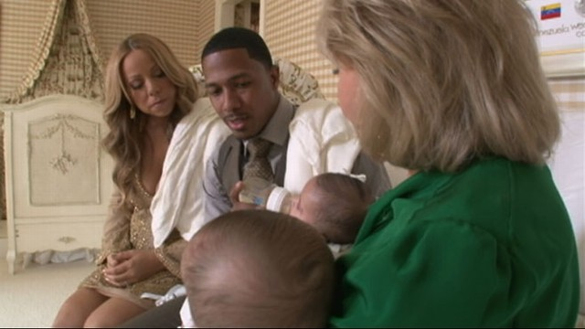 VIDEO: Barbara Walters receives exclusive access to couples brand-new twin babies.