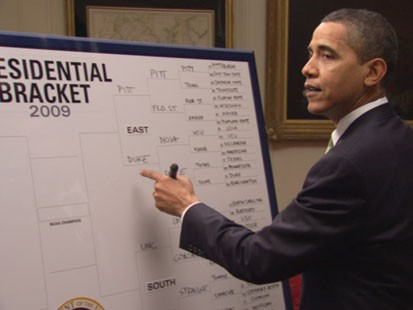 VIDEO: President Obama weighs in on March Madness.