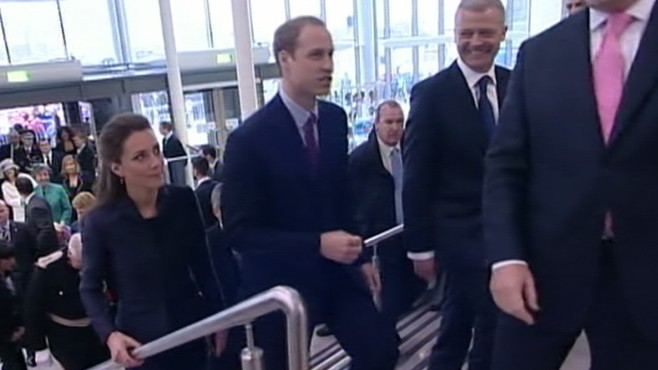 VIDEO: Prince William and Kate Middleton spend time with students in northern England.