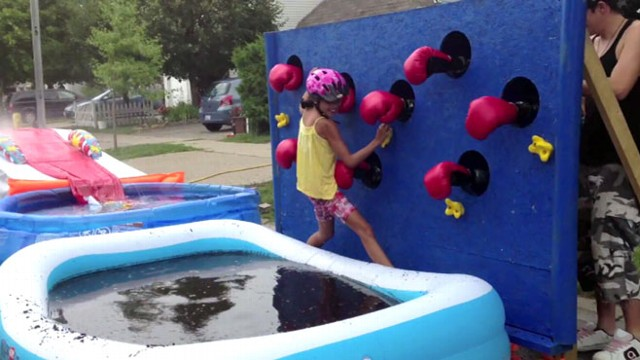 Dad Builds Wipeout Obstacle Course For Kids Video Abc News