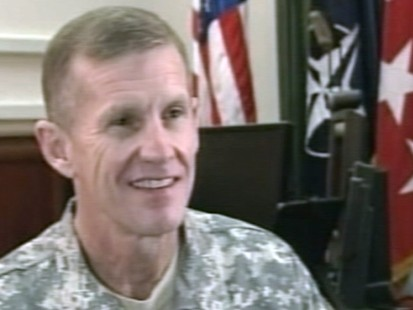 VIDEO: Stanley McCrystal on Afghanistan safety.