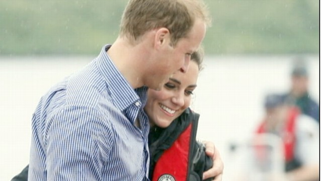 VIDEO: The royal couple race dragon boats and the prince shows off his pilot skills.