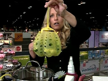 VIDEO: Becky Worley tested new home gadgets at the Home and Housewares show.
