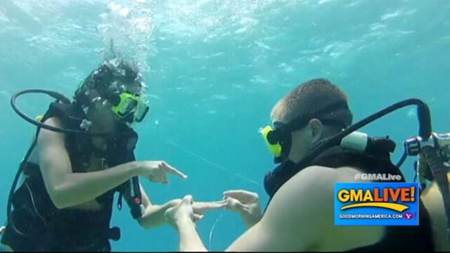 VIDEO: Treasure Hunt Leads to Underwater Proposal