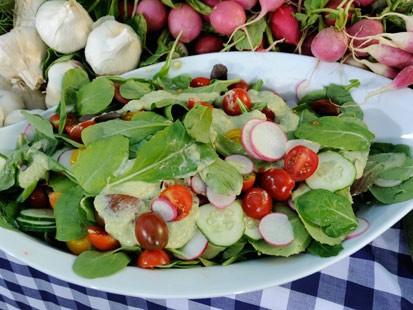Roccos Mixed Green Salad with Fennel-Tarragon Dressing
