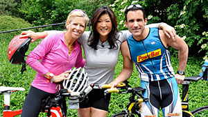 Photo: Juju Chang trains for a triathlon