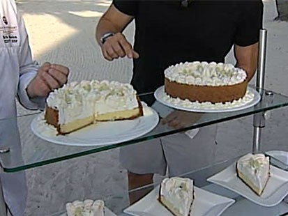 Photo: Sam Champion Snacks on Key Lime Pie in Key West: Learn How to Make Key Lime Pie From Key Wests Casa Marina Restaurant