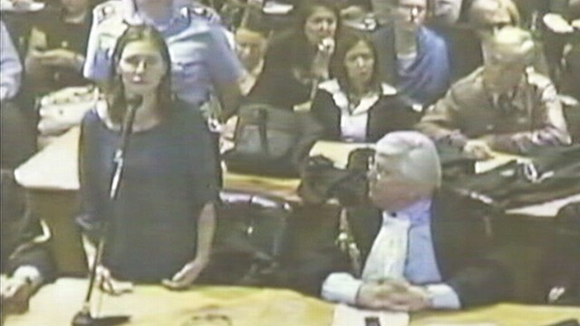 VIDEO: Amanda Knox makes appeal for freedom in a Perugia court room.