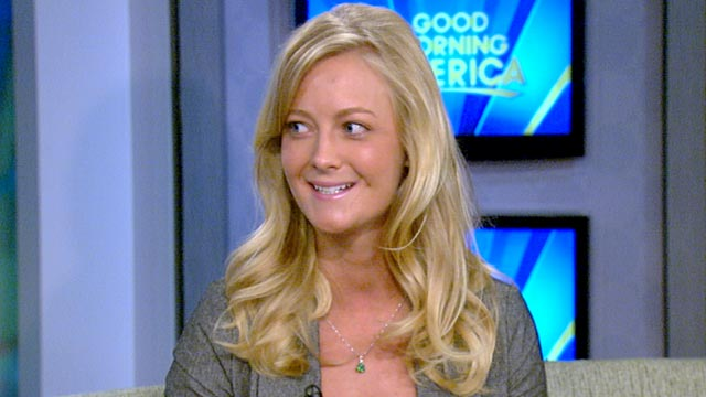 "PHOTO: Lydia Strunk talks about her shark attack on ""Good Morning America."""