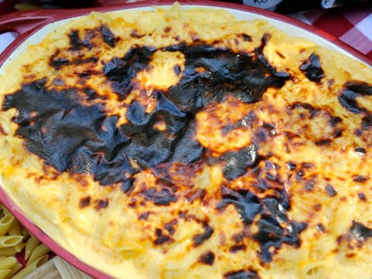 PHOTO: Elizabeth Karmels Pit-Smoked Longhorn Cheddar Mac & Cheese
