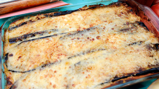 PHOTO: Rachael Ray's Sock-It-To-Me Moussaka Lasagna is shown.