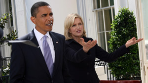 PHOTO President Barack Obama sat down for an exclusive interview with ?Good Morning America? anchor Diane Sawyer.