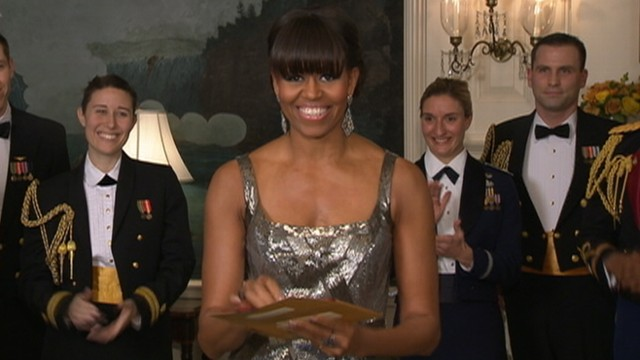 VIDEO: Michelle Obama makes appearance during 85th annual Academy Awards.