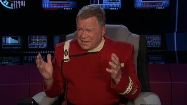 VIDEO: William Shatner appears as his iconic character in the Oscars' opening segment.