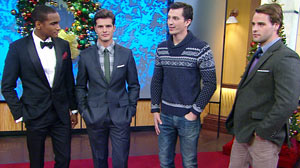 """PHOTO """"Good Morning America"""" teamed up with Details magazine to showcase outfits that will keep guys looking stylish and festive this season."""